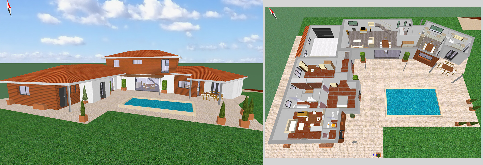 Cool creation maison 3d with creation maison 3d for Logiciel de maison 3d